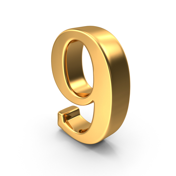 Gold Number 9 Object