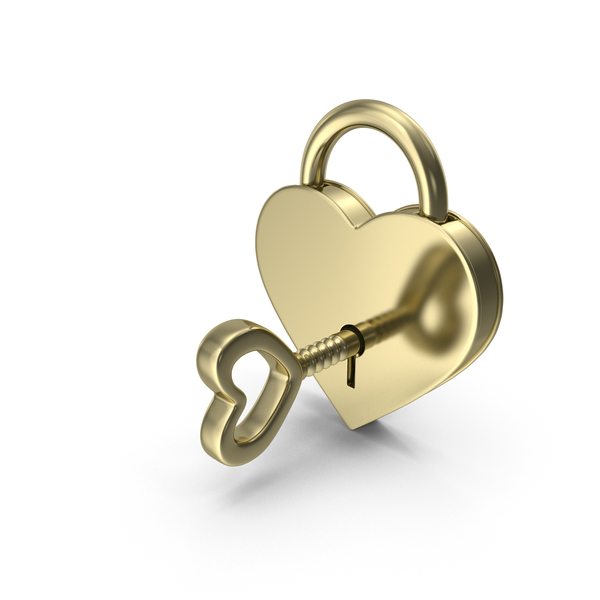 Gold Padlock and Key PNG & PSD Images