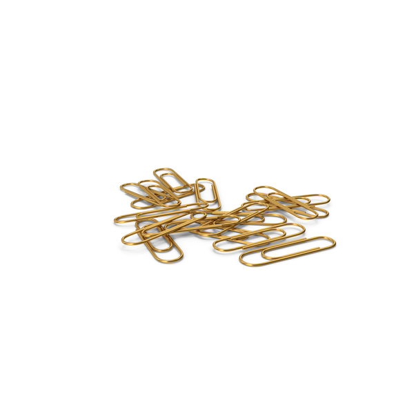 Gold Paper Clip Stack PNG & PSD Images