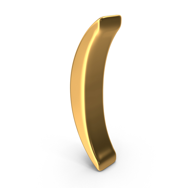 Gold Parenthesis Symbol PNG & PSD Images