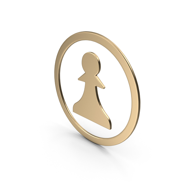 Gold Pawn Symbol PNG & PSD Images