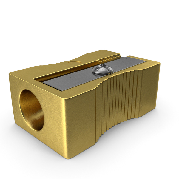 Gold Pencil Sharpener PNG & PSD Images