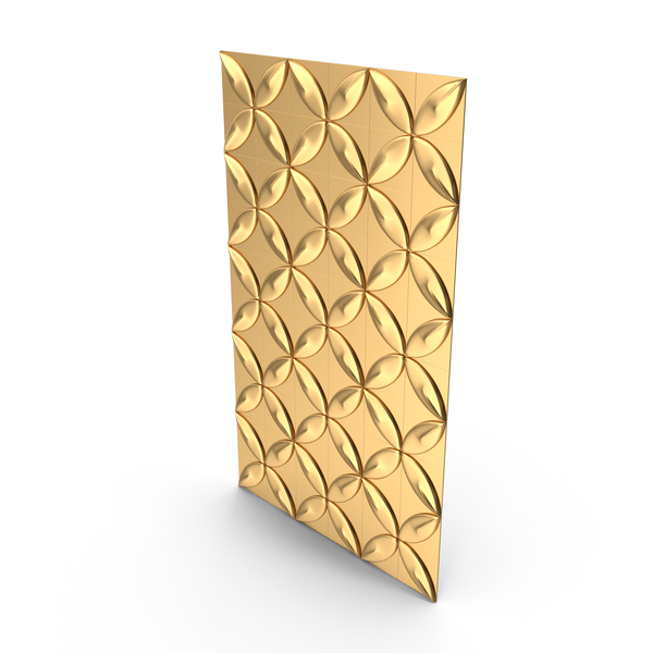 Gold Petal Panel Wall PNG & PSD Images