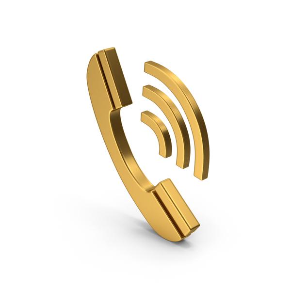 Logo: Gold Phone Symbol PNG & PSD Images