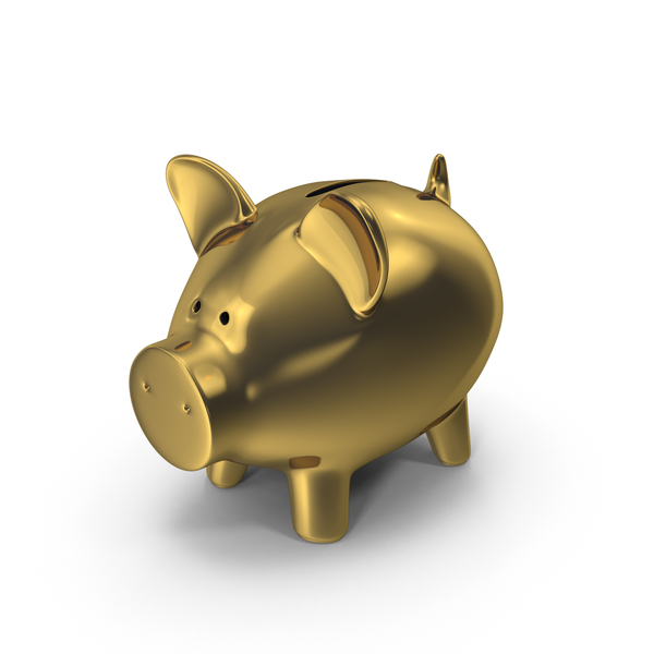 Gold Piggy Bank PNG & PSD Images