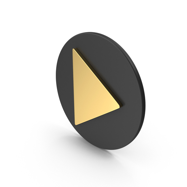 Gold Play Button PNG & PSD Images