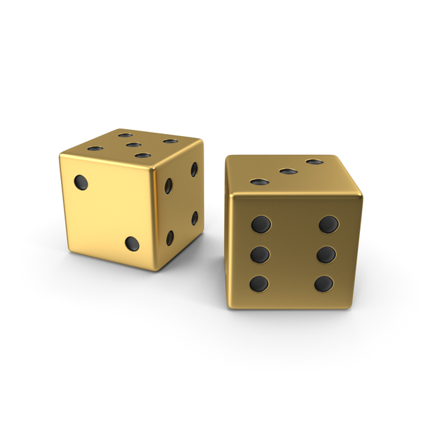Gold Playing Dice PNG & PSD Images