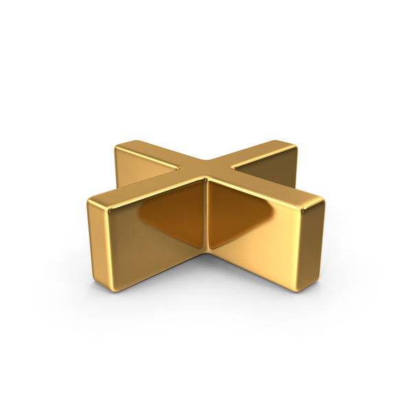 Gold Plus Symbol Object