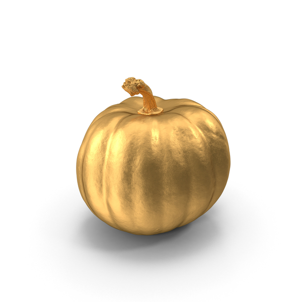 Gold Pumpkin PNG & PSD Images