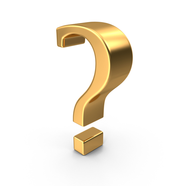Gold Question Mark Symbol PNG & PSD Images