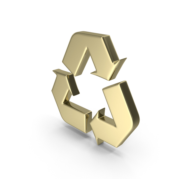 Gold Recycle Symbol PNG & PSD Images