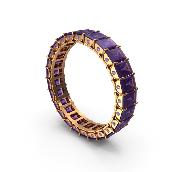 Gold Ring with Amethyst PNG & PSD Images