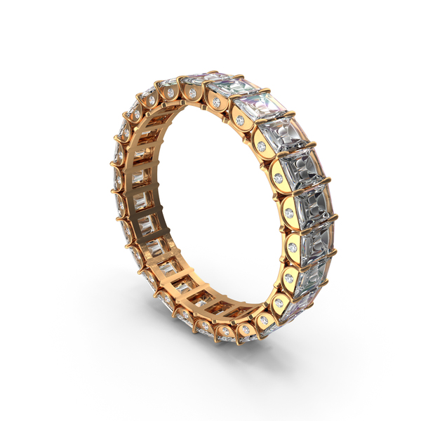 Gold Ring with Crystal Diamonds PNG & PSD Images