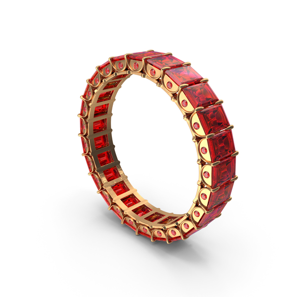 Gold Ring with Rubies PNG & PSD Images