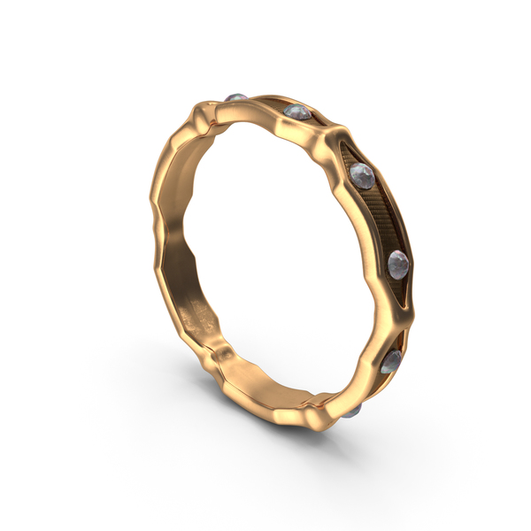 Gold Ring With Small Diamonds PNG & PSD Images