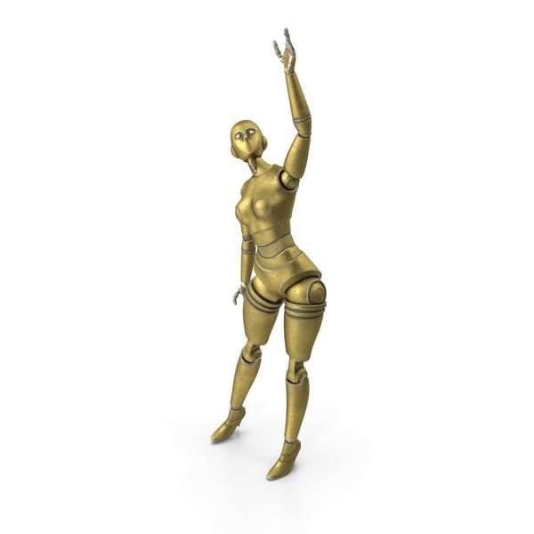 Gold Robot Woman PNG & PSD Images