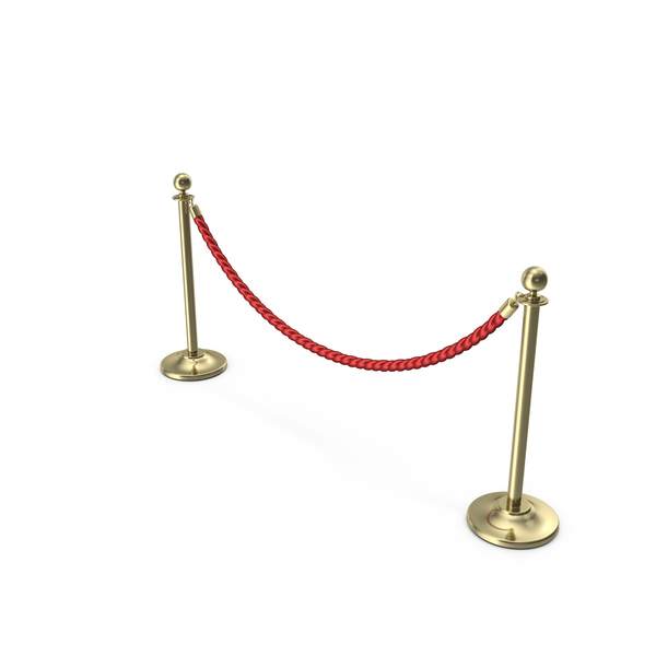 Velvet: Gold Rope Barriers PNG & PSD Images