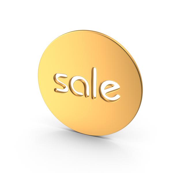 Gold Sale Symbol PNG & PSD Images