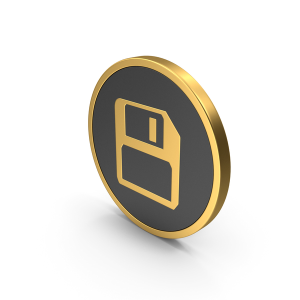 Computer: Gold Save Icon PNG & PSD Images