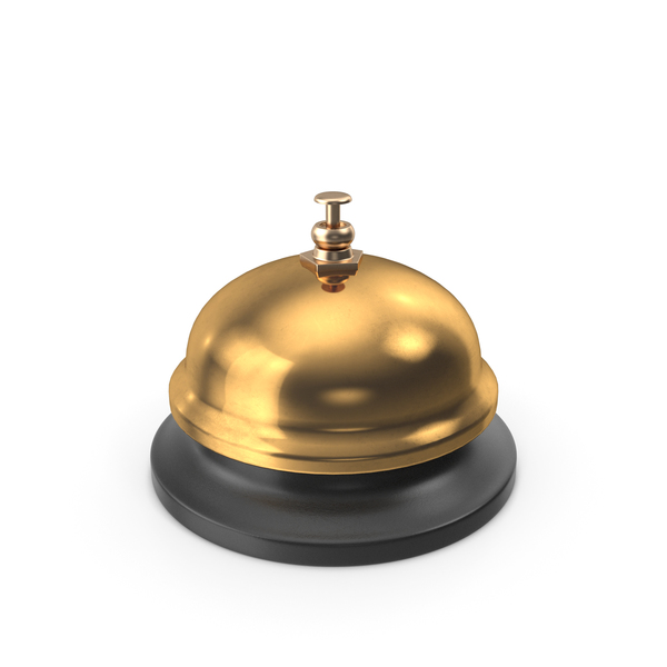 Gold Service Call Bell PNG & PSD Images