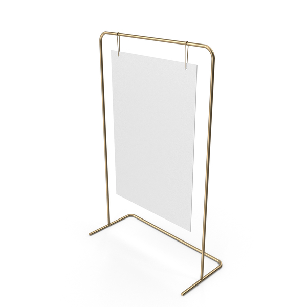 Gold Sign Stand PNG & PSD Images