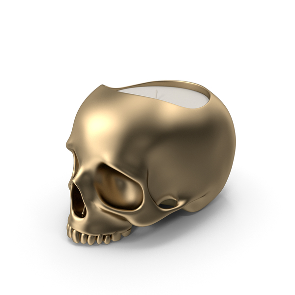 Gold Skull Head Candle PNG & PSD Images