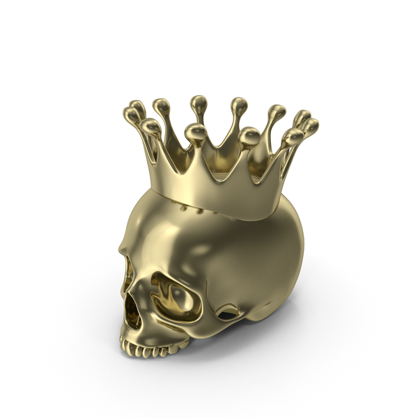 Gold Skull Head Candle with Crown PNG & PSD Images