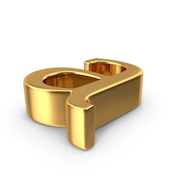 Gold Small Letter A Object