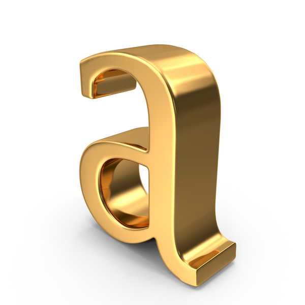 Language: Gold Small Letter A Object