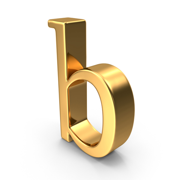 Gold Small Letter B PNG & PSD Images