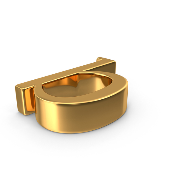 Language: Gold Small Letter b PNG & PSD Images