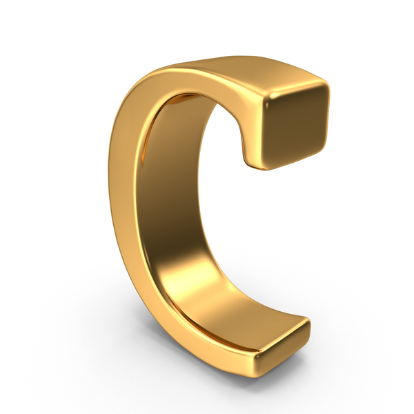 Language: Gold Small Letter C Object