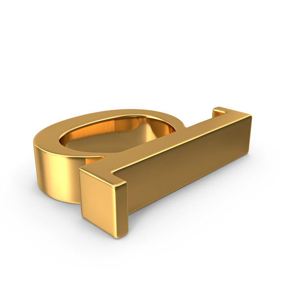 Gold Small Letter D Object