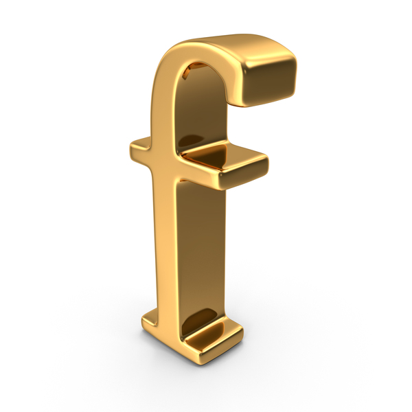 Language: Gold Small Letter F PNG & PSD Images