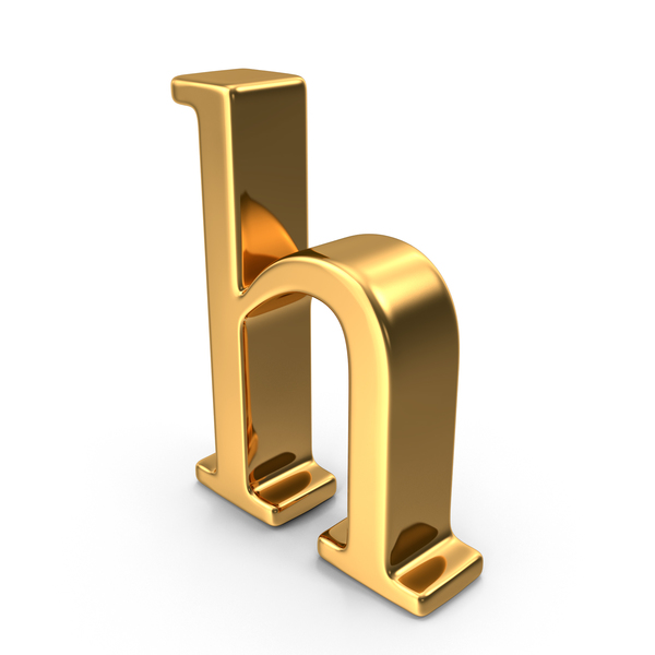 Gold Small Letter H PNG & PSD Images