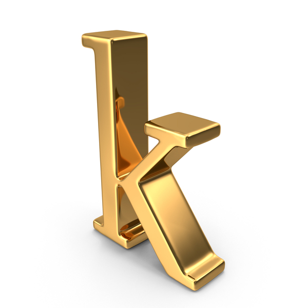 Gold Small Letter K PNG & PSD Images