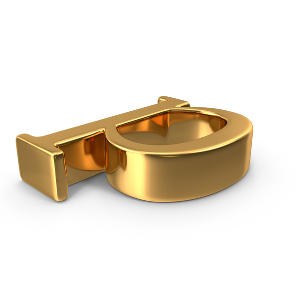 Gold Small Letter p Object