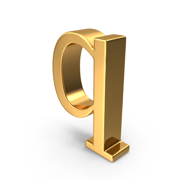 Gold Small Letter Q Object