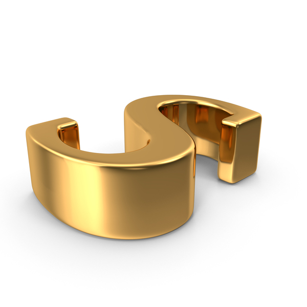 Language: Gold Small Letter s Object