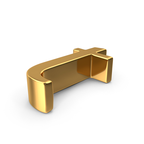 Gold Small Letter t Object