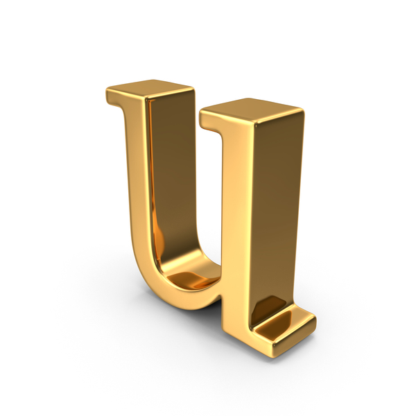 Gold Small Letter U PNG & PSD Images
