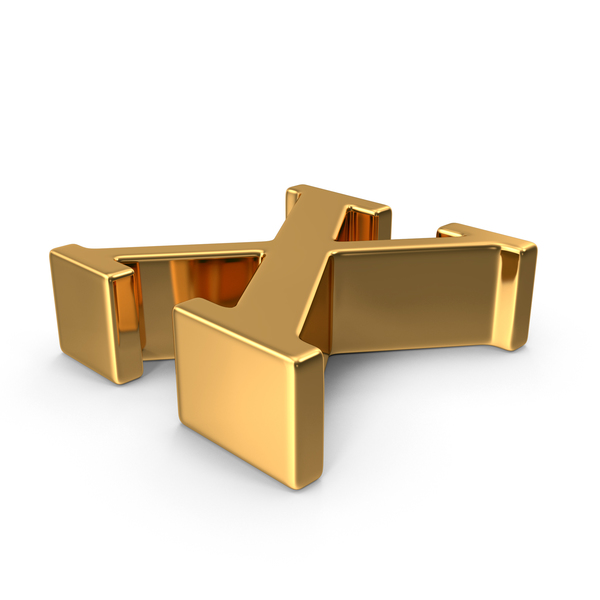 Gold Small Letter X Object