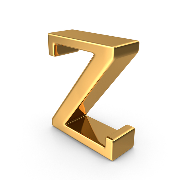 Gold Small Letter Z PNG & PSD Images