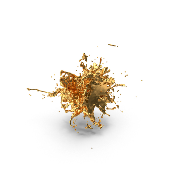Gold Splash PNG & PSD Images