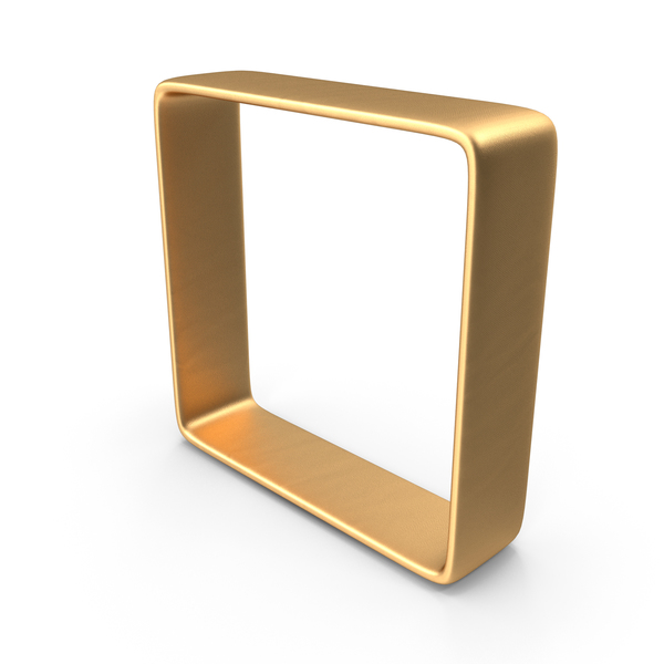 Cube: Gold Square PNG & PSD Images
