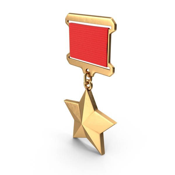Medallion Trophy: Gold Star of the USSR PNG & PSD Images