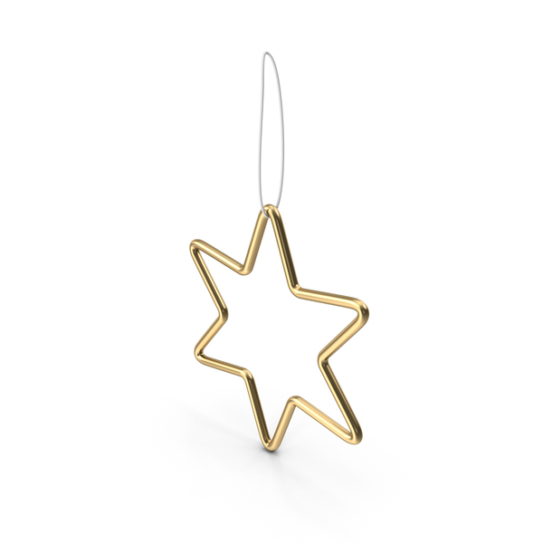 Gold Star Ornament PNG & PSD Images