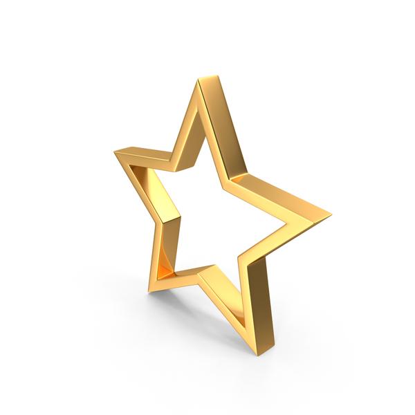 Symbol: Gold Star PNG & PSD Images