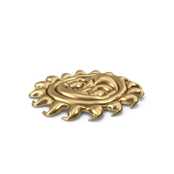 Toy: Gold Sun Pool Float PNG & PSD Images