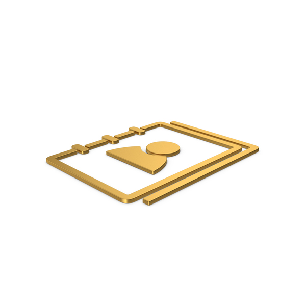 Computer Icon: Gold Symbol Address Book PNG & PSD Images